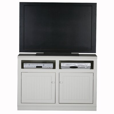 Didier 2 Doors Birchwood TV Stand Door Type: Wood, Color: White