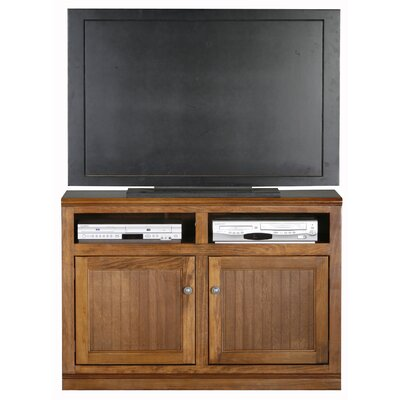 Didier 2 Doors Birchwood TV Stand Door Type: Wood, Color: Smoky Blue