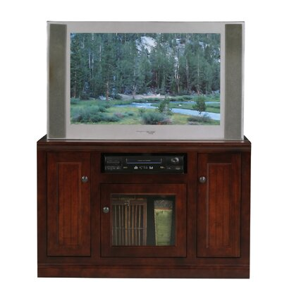 Didier 3 Doors Birchwood TV Stand Color: Caribbean Rum, Door Type: Glass
