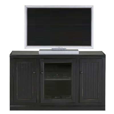 Didier 55 TV Stand Door Type: Glass, Color: Bright White