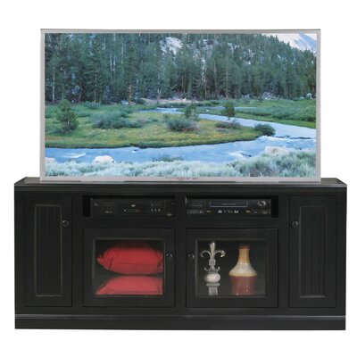 Didier 66 TV Stand TV Stand Door Type: Glass, TV Stand Color: Black