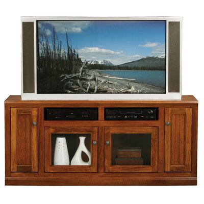 Didier 66 TV Stand TV Stand Door Type: Glass, TV Stand Color: Havana Gold