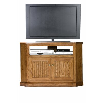 Didier Corner 46 TV Stand Door Type: Plain Glass, Color: Chocolate Mousse