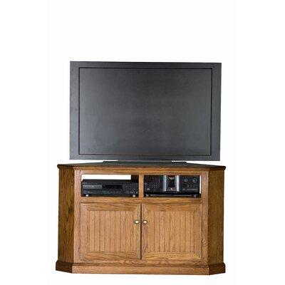 Didier Oak Wood Corner TV Stand Color: Medium Oak, Door Type: Wood Panel