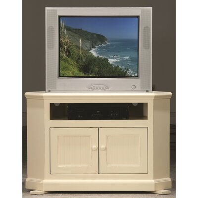 Meredith TV Stand Finish: Soft White, Door Type: Plain Glass