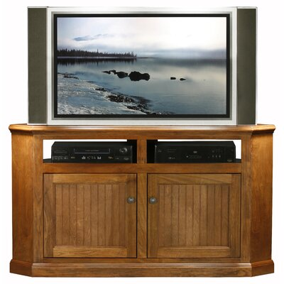 Meredith TV Stand Finish: Antique Black, Door Type: Plain Glass