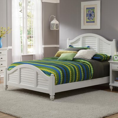 Kenduskeag Panel Bed Finish: Brushed White, Size: Queen