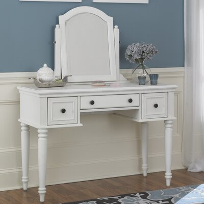 Kenduskeag Vanity with Mirror Finish: White