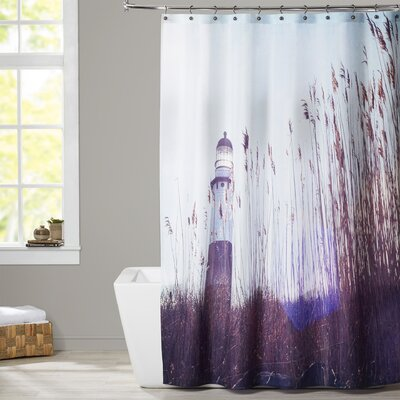Mina Teslaru Lighthouse Shower Curtain