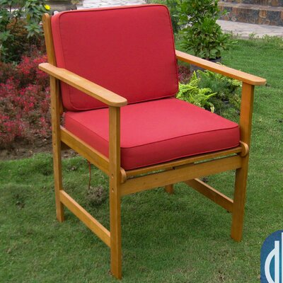 Sabbattus Gulf Port Patio Chair with Cushion Fabric: Ruby Red