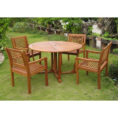 Sabbattus Ventallo 5 Piece Dining Set