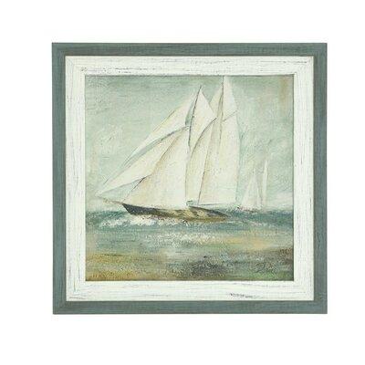 'Cape Cod Sailboat I' Framed Painting Print