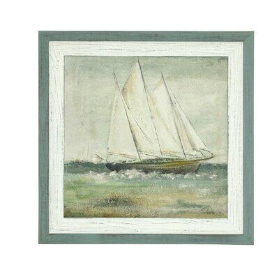 'Cape Cod Sailboat II' Framed Painting Print