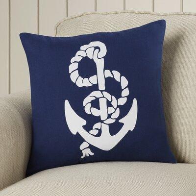 Garysburg Cotton Throw Pillow Color: Navy