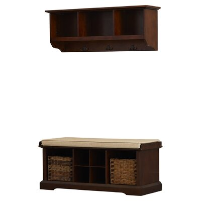 Selbyville Wood Storage Bench & Shelf Set