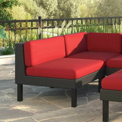 Breakwater Bay Zoar Patio Middle Seat Chair with Cushion