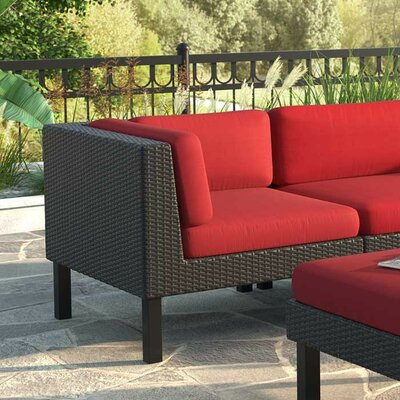 Breakwater Bay Zoar Patio Corner Seat Chair with Cushion