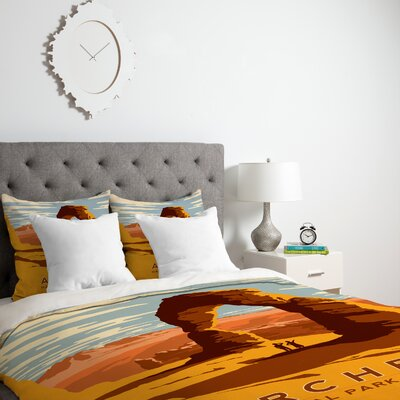 Patterson Arches Duvet Cover Size: Queen, Fabric: Lightweight