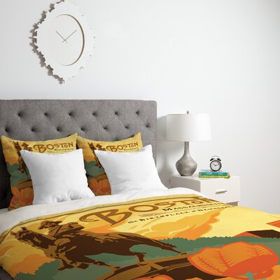 Patterson Duvet Cover Size: Twin, Fabric: Lightweight