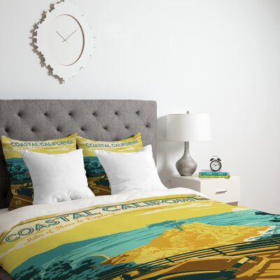 Patterson Coastal California Duvet Cover Size: Twin, Fabric: Lightweight