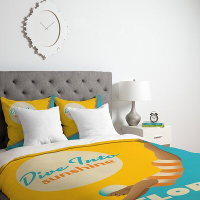 Patterson Dive Florida Duvet Cover Size: Queen, Fabric: Lightweight