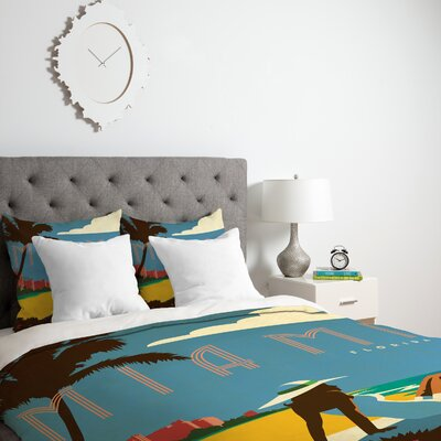Patterson Miami Duvet Cover Size: King, Fabric: Lightweight