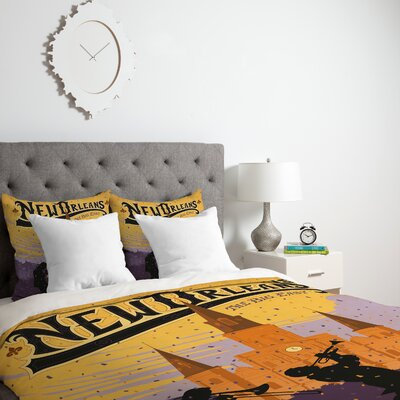 Patterson New Orleans Duvet Cover Size: Queen, Fabric: Lightweight