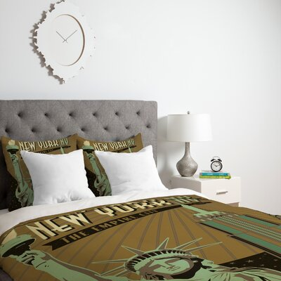 Patterson New York Duvet Cover Size: Twin, Fabric: Lightweight