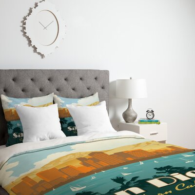 Patterson San Diego Duvet Cover Size: King, Fabric: Lightweight