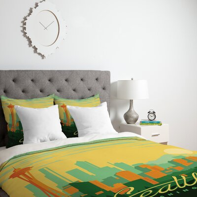 Patterson Seattle Duvet Cover Size: Twin, Fabric: Lightweight