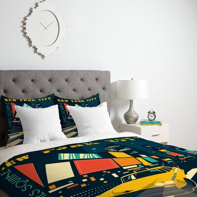 Patterson NYC Times Square Duvet Cover Size: Queen, Fabric: Lightweight