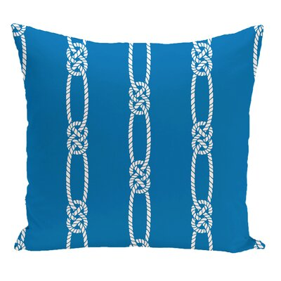 Hancock Tom Foolery Stripe Throw Pillow Size: 18 H x 18 W, Color: Blue