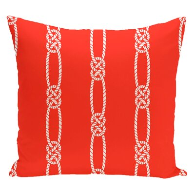 Hancock Tom Foolery Stripe Throw Pillow Size: 16 H x 16 W, Color: Orange