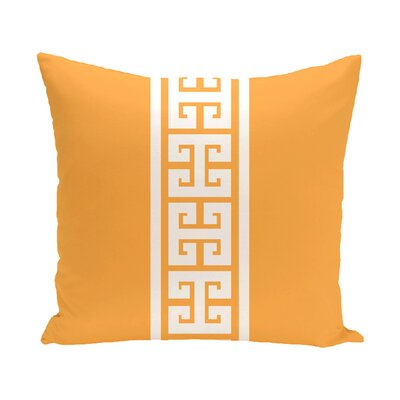 Hancock Key Stripe Outdoor Throw Pillow Size: 16 H x 16 W, Color: Yellow