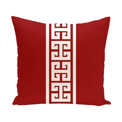 Hancock Key Stripe Outdoor Throw Pillow Size: 18 H x 18 W, Color: Red