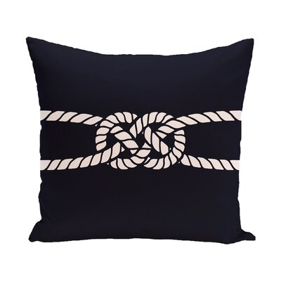 Hancock Carrick Bend Geometric Throw Pillow Size: 26 H x 26 W, Color: Navy Blue