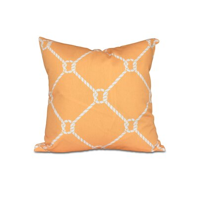 Bridgeport Ahoy Outdoor Throw Pillow Size: 18 H x 18 W, Color: Yellow