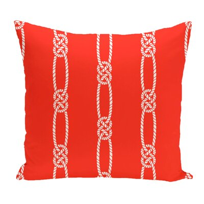 Hancock Tom Foolery Stripe Outdoor Throw Pillow Size: 18 H x 18 W, Color: Orange