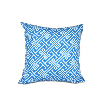Hancock Leeward Key Geometric Throw Pillow (Set of 2) Size: 18 H x 18 W, Color: Blue