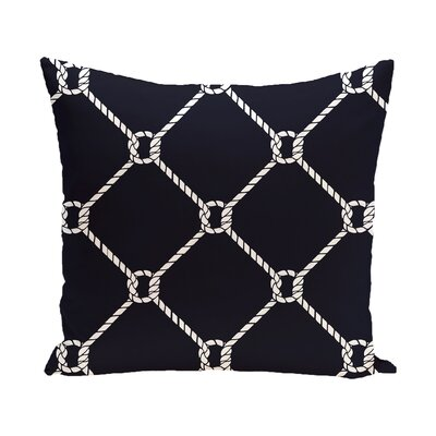 Bridgeport Ahoy Outdoor Throw Pillow Size: 16