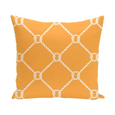 Bridgeport Ahoy Outdoor Throw Pillow Size: 20 H x 20 W, Color: Yellow