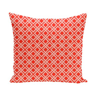 Hancock Rope Rigging Geometric Outdoor Throw Pillow Size: 20 H x 20 W, Color: Red/Orange
