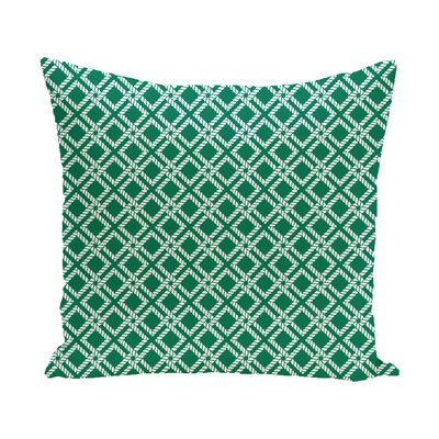 Hancock Rope Rigging Geometric Outdoor Throw Pillow Size: 16 H x 16 W, Color: Navy Blue