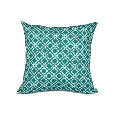 Hancock Rope Rigging Geometric Outdoor Throw Pillow Size: 18 H x 18 W, Color: Green