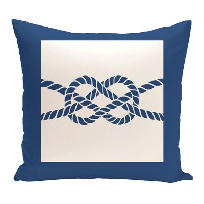 Hancock Nautical Knot Geometric Outdoor Throw Pillow Size: 20 H x 20 W, Color: Blue