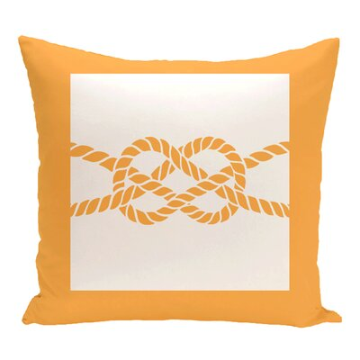 Hancock Nautical Knot Geometric Outdoor Throw Pillow Size: 20 H x 20 W, Color: Yellow