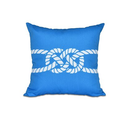 Hancock Carrick Bend Geometric Outdoor Throw Pillow Size: 18 H x 18 W, Color: Blue