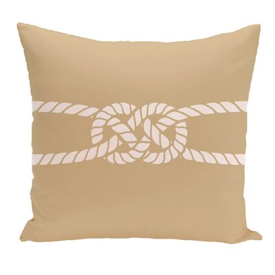 Hancock Carrick Bend Geometric Outdoor Throw Pillow Size: 18 H x 18 W, Color: Beige/Taupe