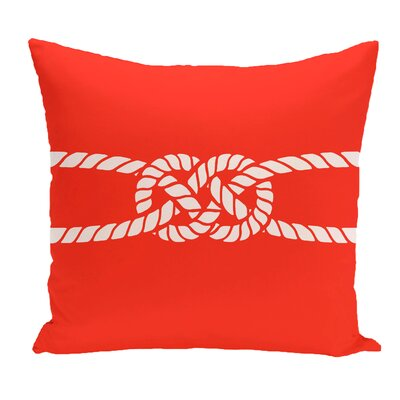 Hancock Carrick Bend Geometric Outdoor Throw Pillow Size: 20 H x 20 W, Color: Red/Orange