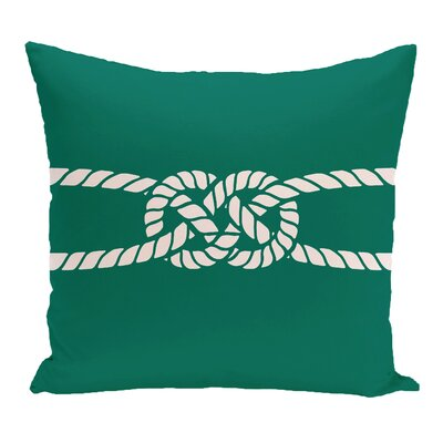 Hancock Carrick Bend Geometric Outdoor Throw Pillow Size: 20 H x 20 W, Color: Green